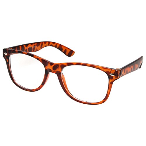 Kids Nerd Glasses Clear Lens Geek Fake for Costume Children's (Age 3-10) Tortoise
