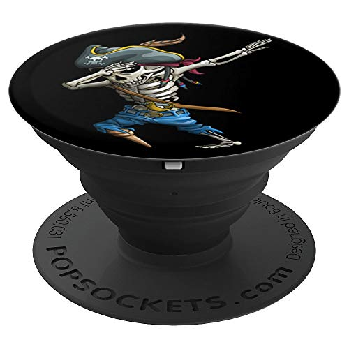 Dabbing Skeleton Pirate Funny Jolly Roger Halloween Kids  PopSockets Grip and Stand for Phones and Tablets ()