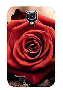 Special Exultantor Skin Case Cover For Galaxy S4, Popular Love Red Flowers Faith Roses Time Phone Case For New Year's Day's Gift
