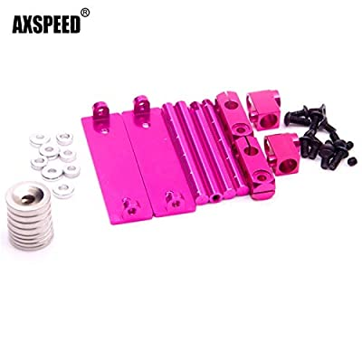 ShineBear Upgrade Stealth Invisible Body Post Mount for General HSP for Sakura D3 D4 XI XIS Tamiya 416 417, T3,T4 94123 - (Color: Pink): Toys & Games