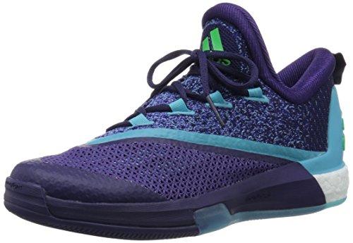 adidas Herren Crazylight Boost 2.5 Low Basketballschuhe Violett / Blau / Rosa (Purosc / Briazu / Rosimp)