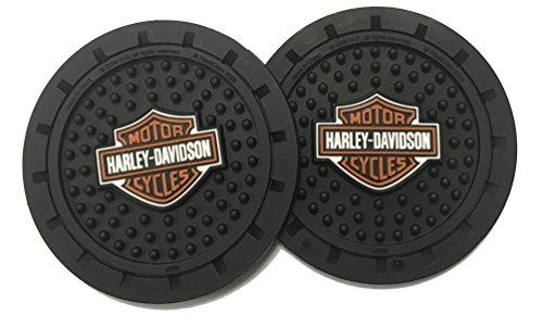 Harley-Davidson Orange Bar & Shield Drink Holder Coasters, Set of 2 CG625 ()