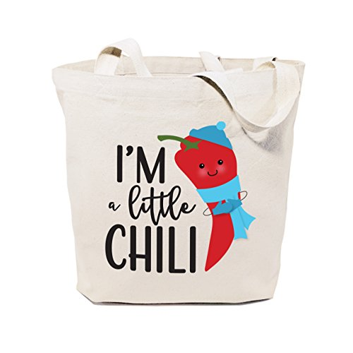 The Cotton & Canvas Co. I'm A Little Chili Reusable Grocery Bag and Farmers Market Tote Bag