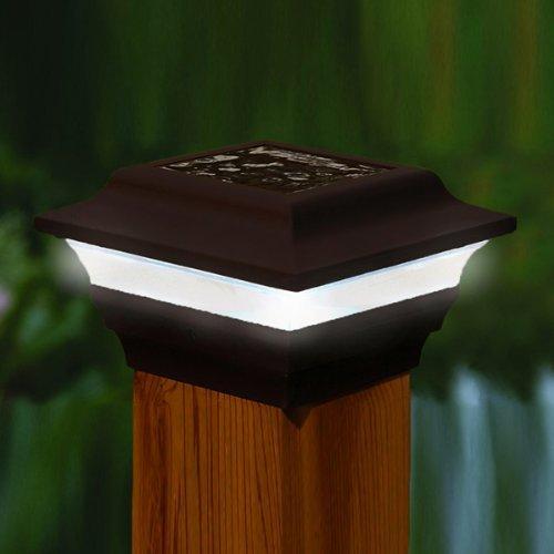 Black Aluminum Imperial Solar Post Cap - Size 4''X4''
