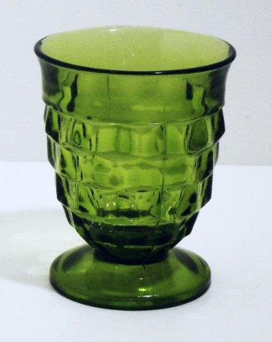 Vintage Fostoria American Green Footed Juice Tumbler Fostoria Green