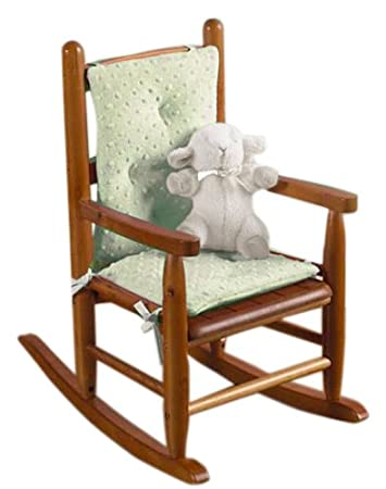 Baby Doll Bedding Heavenly Soft Child Rocking Chair Cushion Pad Set, Sage ( Chair Is