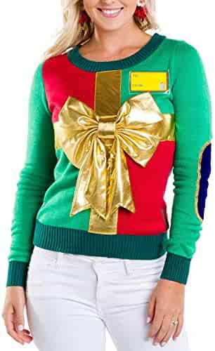 00acd355351 ... Long Sleeve Round Neck Knitted Sweater Pullover. seller  uideazone.  (46). Tipsy Elves Women s Sweater - Cute Wrapping Paper Christmas Sweater