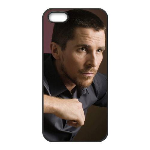 Christian Bale 003 coque iPhone 5 5S cellulaire cas coque de téléphone cas téléphone cellulaire noir couvercle EOKXLLNCD22845