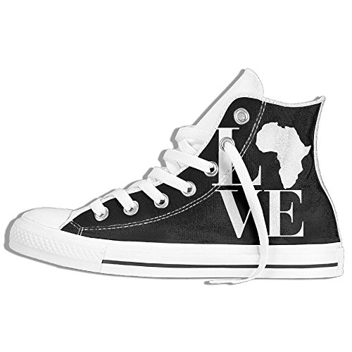 Love Africa Fashion Canvas Shoes Sneaker Lace Ups High Top Casual Trainers For Mens Womens by WI8Q-1