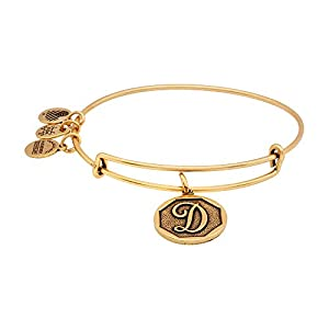Alex and Ani Women's Initial D Charm Bangle