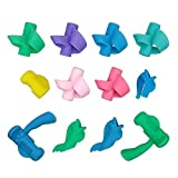 12PCS New Design Ergonomic Silicone Handwriting Pencil Grips Holder Aid Posture Correction Training Tools by SkyCooool