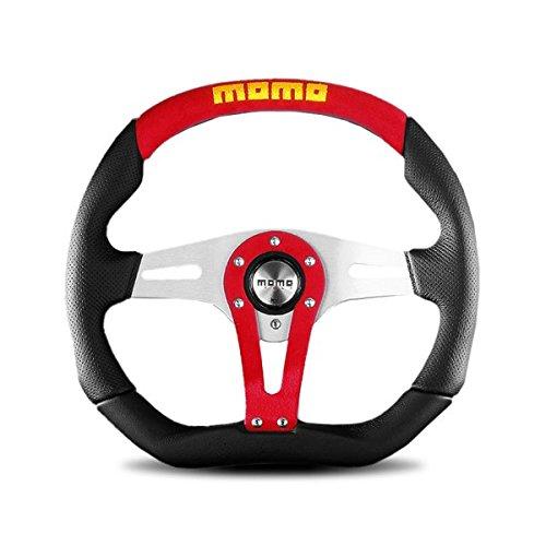 MOMO TRK35BK0B Trek Black 350 mm Leather Steering Wheel