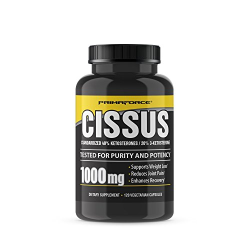 PrimaForce Cissus Supplement, 120 Count 1000mg Capsules - Supports Weight Loss / Reduces Joint Pain / Enhances Recovery