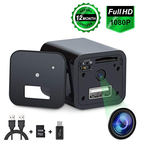 Charger Camera Surveillance Camera HD 1080P Motion Detection Loop Recording 32GB 2019 Newest