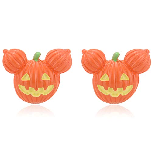 Zhenhui Halloween Pumpkin Earrings Studs Funny Pumpkin Mouse Jack O Lantern
