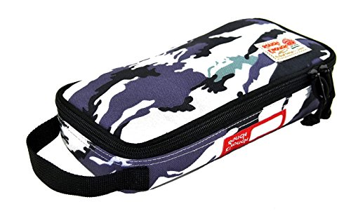 Rough Enough Multi-Function CORDURA Soft Polyester Portable Fashion Large Pencil Case Tools Pouch Holder Organizer Storage Bag for Kits Accessories Stationary Kids Boys Students Sports Outdoors by RE ROUGH ENOUGH