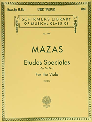 Etudes Speciales, Op. 36 - Book 1: Schirmer Library of Classics Volume 1885 Viola Method 1 Viola Music Book