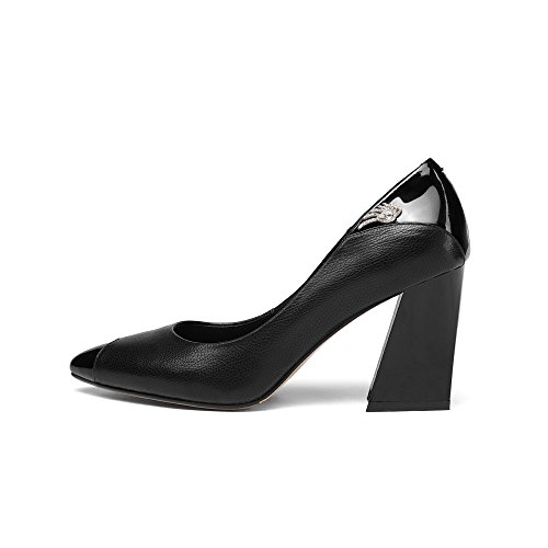 Noires Métal pour Four Talons en Black Attaches Professionnelles Chaussures Escarpins Seasons Femmes Hauts ACfqXqwnP