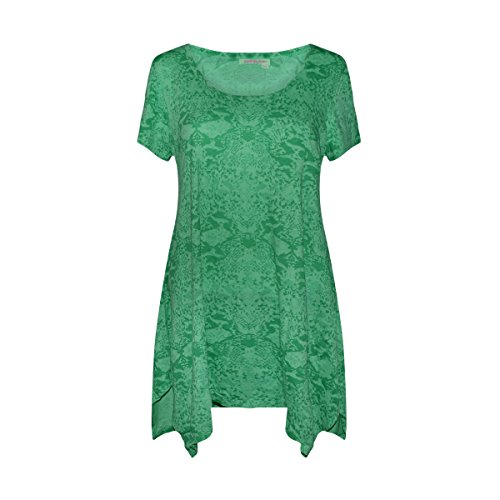Fresh Produce Women's Drape Tee Cotton Clothing Top (Green Gecko, Medium) (Fresh Apparel Green)