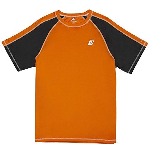 LAGUNA Men's UPF 50+ Lifeguard Loose-Fit Rashguard Sun Protection Top Orange L