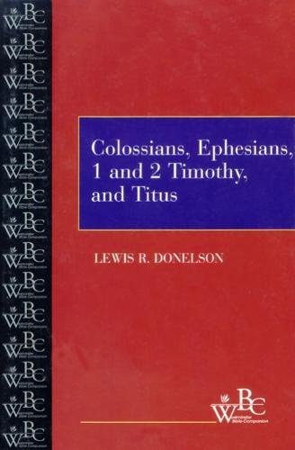 Colossians  Ephesians 1 And 2 Timothy And Titus