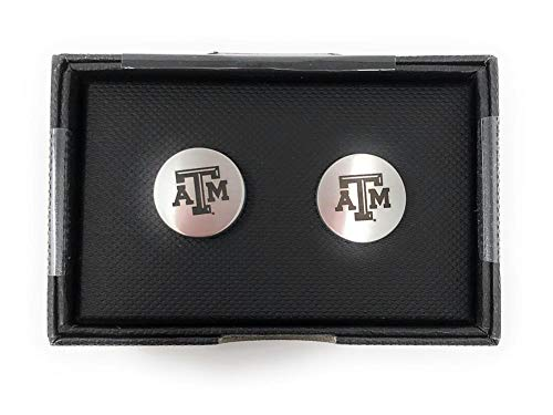 - Laser Engraved Gifts Texas A&M Aggies Cuff Links Silver Cufflink Set