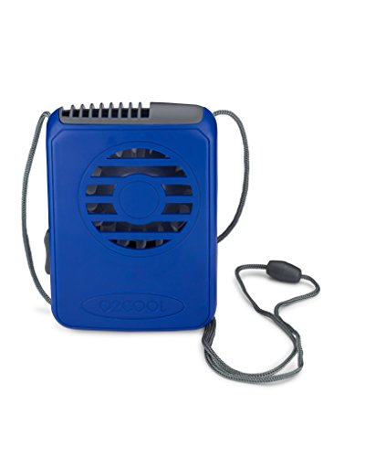 2aa Requires Batteries (O2COOL Deluxe Necklace Fan, Blue)
