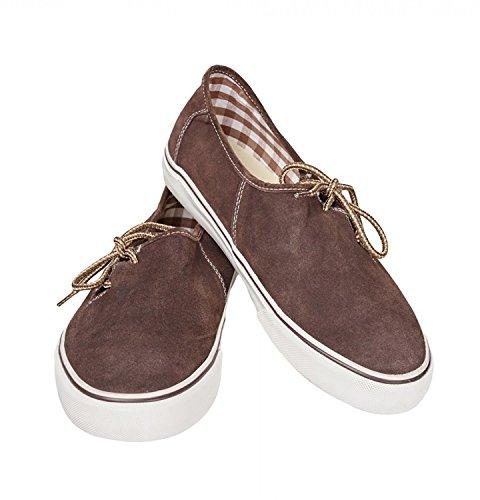 Haferl-Sneaker braun Größe 45