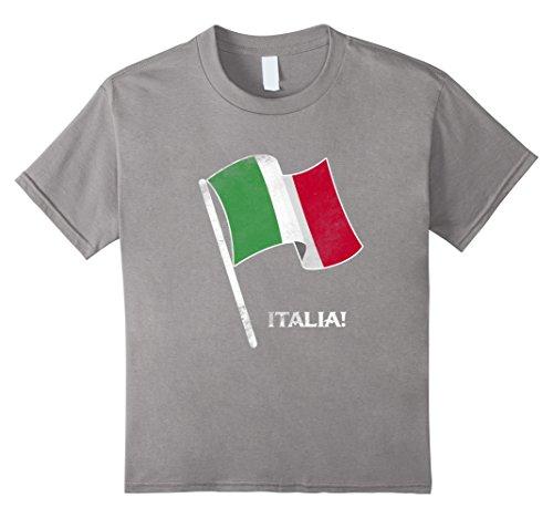 Country Girl Costumes For Kids (Kids Italia Italian Country Flag T-Shirt Love Italy Gift Tee 8 Slate)