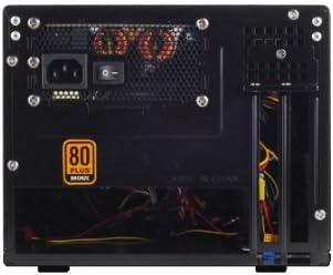Black Silverstone Tek SG05BB-450-USB3.0 All Black Plastic//SECC Mini-ITX Computer Case with SFX 450W 80 Bronze Certified PSU with 2X USB3.0 Front Ports Cases
