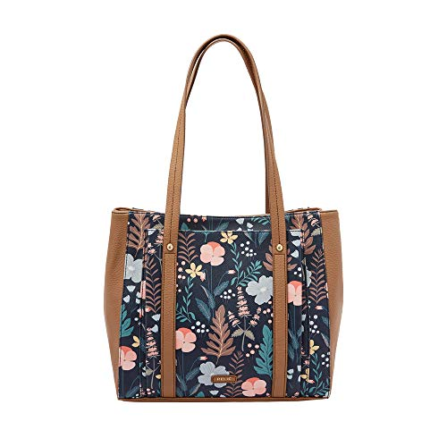 Relic by Fossil Bailey Double Shoulder Bag Navy Floral