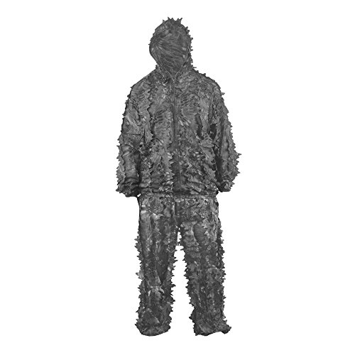 HYOUT Hunting Camouflage Clothing Ghillie Suit , Lightweight 3D Leafy Woodland Camo Jungle Hunting Clothes Free Size TYPHON