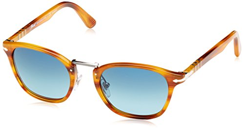 Persol Mens Sunglasses (PO3110S 51) Brown/Blue Acetate - Polarized - - Po3110s Persol
