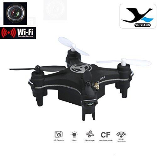 Livoty Mini RC Quadcopter 2.4GHz 4CH 6-Axis Gyro 3D UFO Drone FPV With WIFI Nano Camera (black)