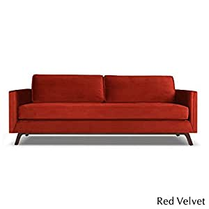 "South Cone Home BRUCSOVEL60/REDV Bruce Sofa Contemporary, 60"", Red"
