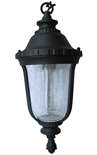 Aluminum Outdoor Exterior Lantern Hanging Lighting Fixture Black Sconce 6.5