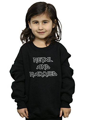 Absolute Cult Drewbacca Girls Metal and Married Mono Sweatshirt Black 9-11 Years by Absolute Cult