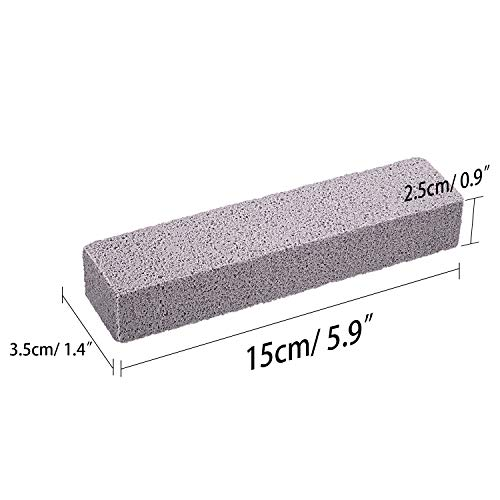 20 Pack Pumice Stones for Cleaning - Pumice Scouring Pad, Grey Pumice Stick Cleaner for Removing Toilet Bowl Ring, Bath, Household, Kitchen, Pool, 5.9 x 1.4 x 0.9 Inch (20 Pack) by Norme (Image #1)