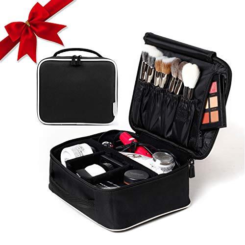 ROWNYEON Makeup Train Case Makeup Travel Bag Mini Cosmetic Bag Organizer Professional Portable Cosmetic Makeup Case for Women Storage Bag 9.8