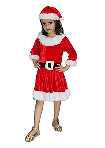 fba58a1076f om tech enterprises Christmas Santa Claus Fancy Dress Costume for 0-6 Month  Babies-Multicolor