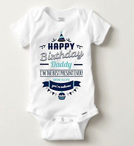 Amazon Happy Birthday Daddy Bodysuit Handmade