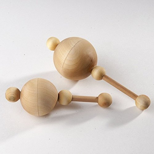 Traditional Rattle with Peas. Organic Wooden Rattle. Teething Toy. Natural Infant Toy. Beech and Linden rattle.