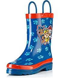 Kids Boys' Paw Patrol Character Printed Waterproof Easy-On Rubber Rain Boots (Toddler/Little Kids)