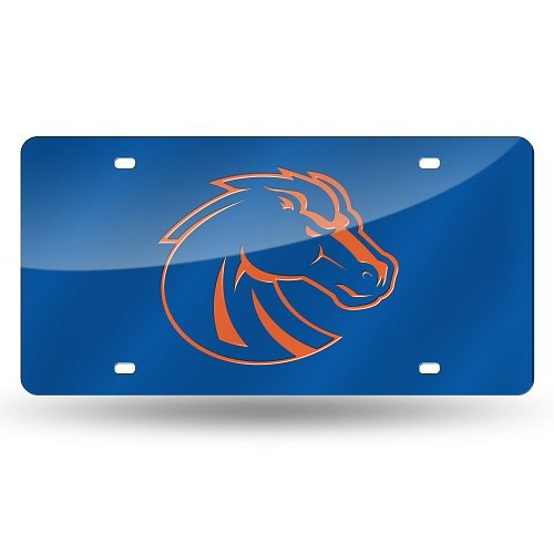 Rico Industries NCAA Boise State Broncos Laser Inlaid Metal License Plate Tag