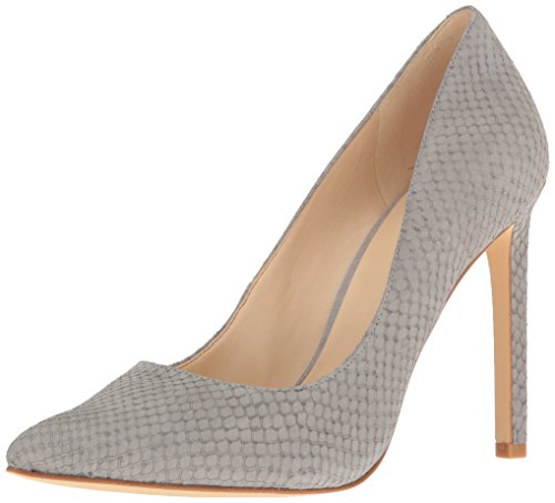 Nine West Women's Tatiana Nubuck Dress Pump, Grey, 10.5 M US