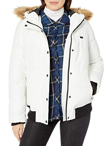 Levi's Women's The Melanie Performance Faux Fur Trimmed Snorkel Jacket, White, Small