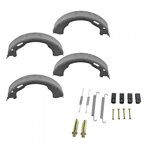 (Emergency Parking Brake Shoes & Hardware Springs Kit Set For Ford )