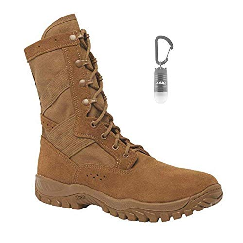 Belleville One Xero C320 Coyote Brown Ultra Light Assault Boot, Made in USA with Bonus Nebo Light (2 Bundle Items)