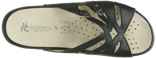 Hans Herrmann Collection HHC 02102250-10 - Zuecos de cuero para mujer, color negro, talla 36 Negro (Schwarz (Schwarz))