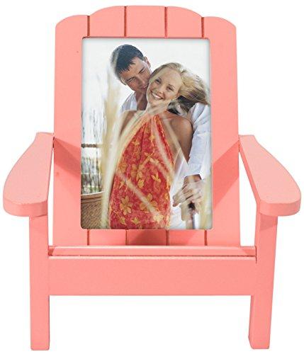 Malden International Designs Adirondack Chair Wooden Picture Frame, 4x6, Coral